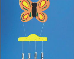 WD7366 Butterfly Wind Chimes Pk/6, DIY Craft