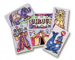 DIY Circus Watercolor Painting Cards Pk48 (GP3074)