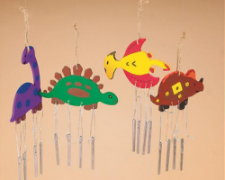 CE4625 DIY Dino Wind Chimes Craft Kit (makes 12)