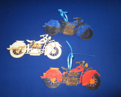 GP2167 Unfinished Wood Motorcycle for Craft Kit (makes 12)