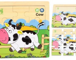 Color Wood Puzzles of Cow (PT-008)