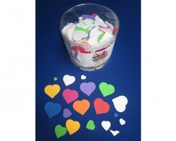 Foam Hearts with Adhesive Toys AC750