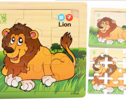 Colorful Wooden Puzzle Cartoon Animal (PT-006)