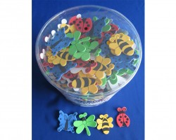 Foam Shapes with Adhesive Bugs and Butterflies Toys AC951