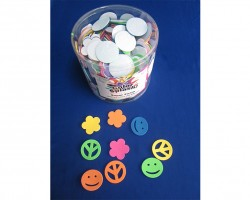 Shapes with Adhesive Peace Signs 400 PCS Toys AC933