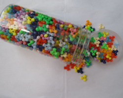 BE9071  DIY Solid Color Tri-Beads