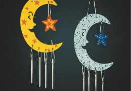 CE4662 Celestial Windchimes Craft Kit (makes 12) Wood